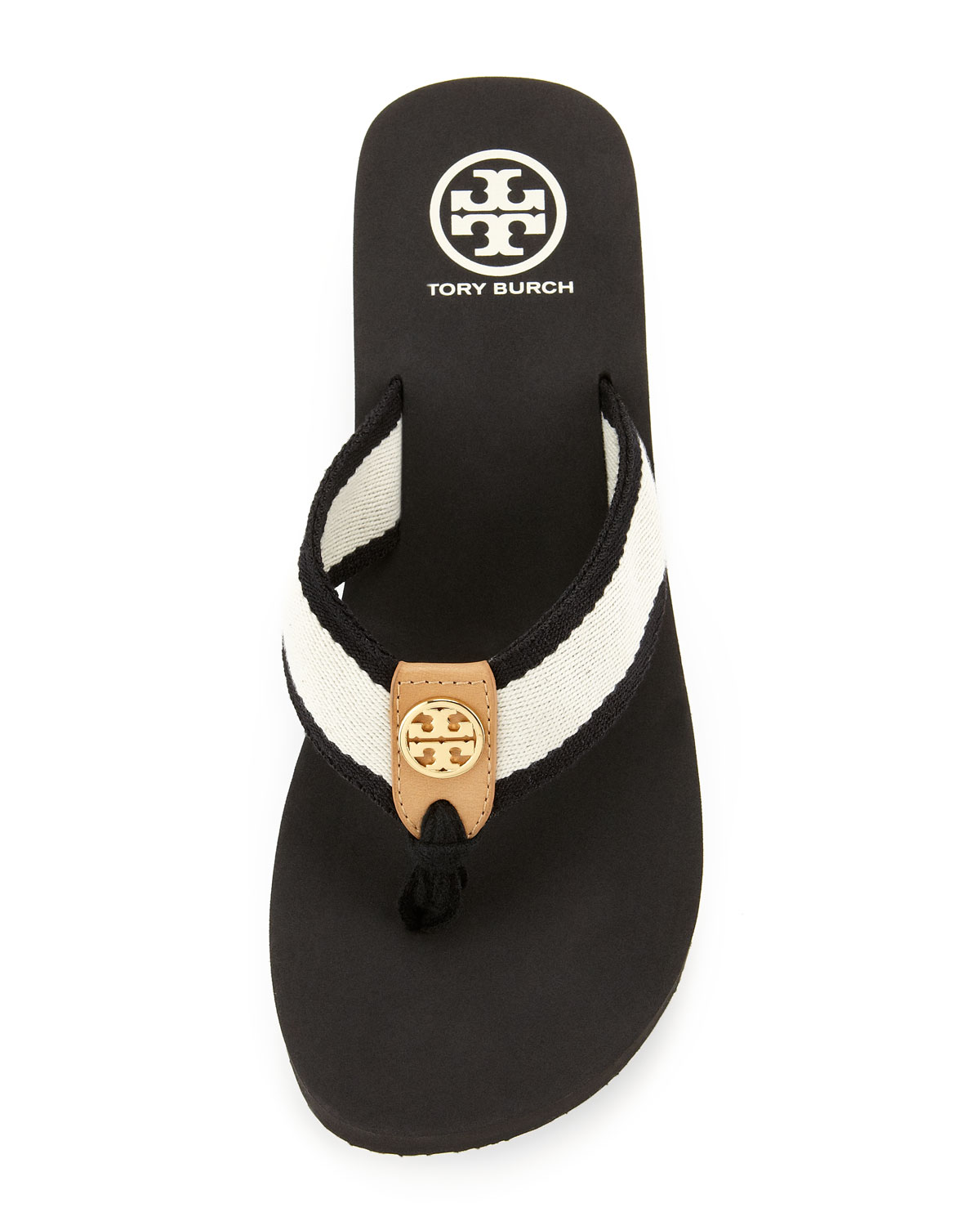 Lyst Tory Burch Ray Rubber Wedge Flipflop