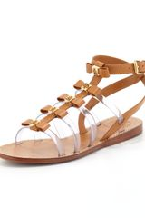 Tory Burch Kira Gladiator Bow Sandal Custom Tan - Lyst