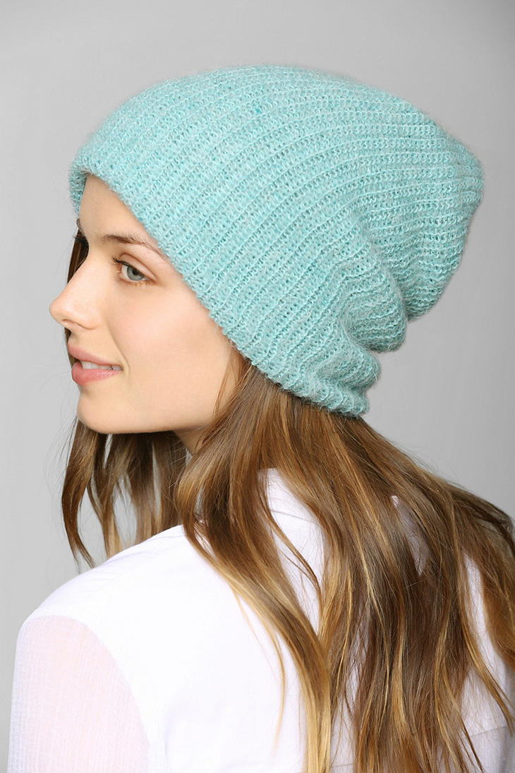 Lyst - Urban Outfitters Mohair Slouchy Beanie in Blue f8407f22dbdc