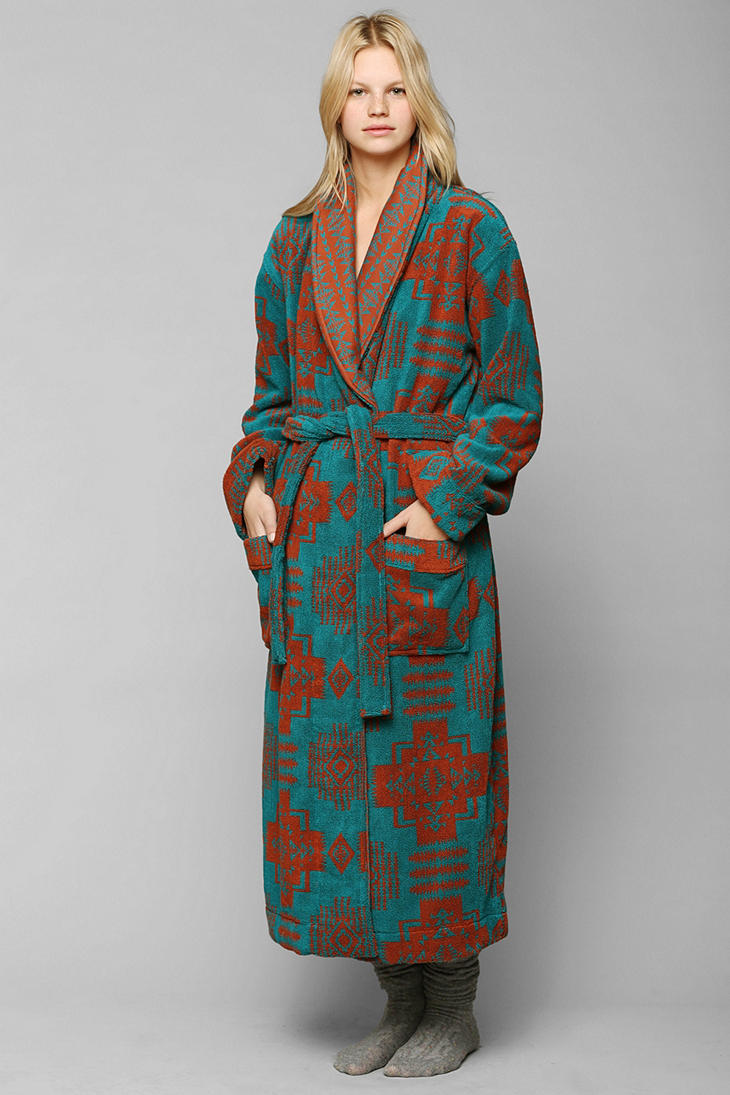 Urban Outfitters Terry Cloth Robe In Green Lyst