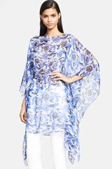 Versace Gathered Waist Silk Caftan - Lyst