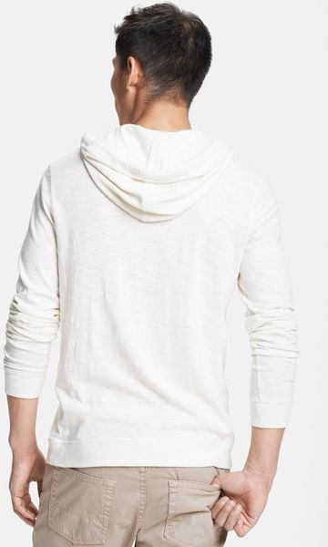 White Sierra Sugarloaf Hoodie Pullover - Cotton Jersey Knit (For Women
