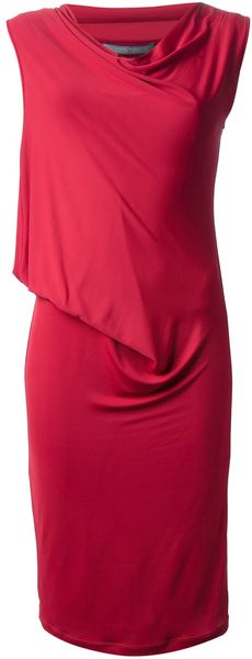 Alberta Ferretti Ruched Dress - Lyst