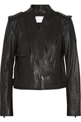 Alexander Wang Textured Leather Biker Jacket - Lyst