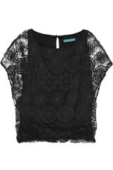 Alice + Olivia Cheryl Lace Top - Lyst