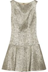 Alice + Olivia Lora Metallic Stretch jacquard Dress - Lyst