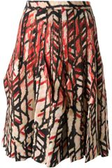 Bottega Veneta Patterned Skirt - Lyst