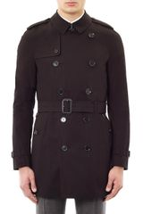 Burberry Doublebreasted Trench Coat - Lyst