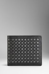 Burberry Studded London Leather Folding Wallet - Lyst