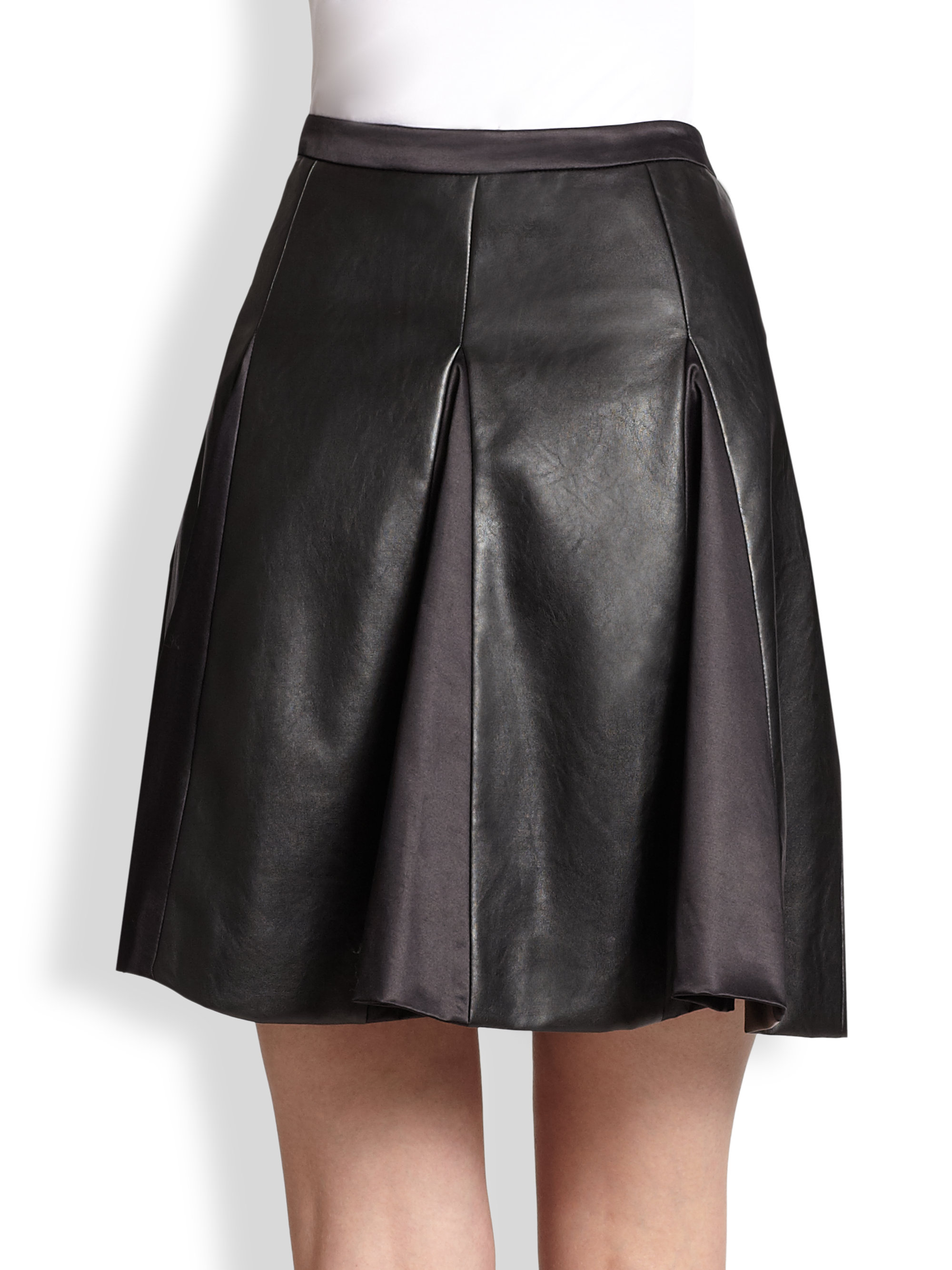 235a39d3dc Gallery. Previously sold at: Saks Fifth Avenue · Women's Black Leather  Skirts