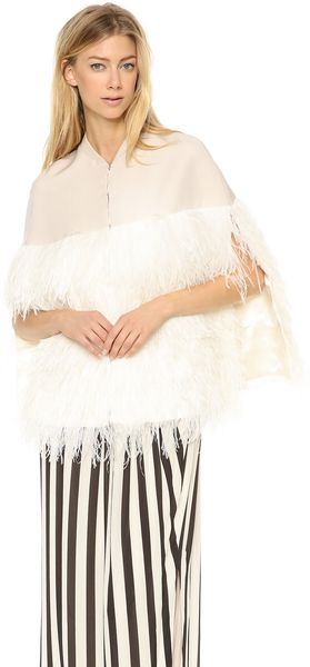 By Malene Birger Lochan Ostrich Feather Cape - Lyst