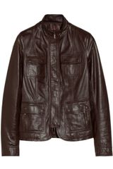 Calvin Klein Saila Leather Biker Jacket - Lyst