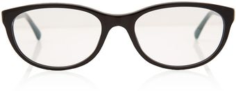 Chanel Black and Silver Chain Detail Glasses - Lyst