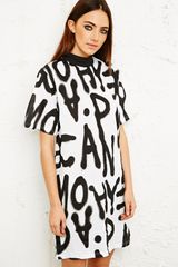 Cheap Monday Spray Mania Tee Dress - Lyst