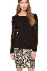 Club Monaco Irina Faux Fur Sweater - Lyst