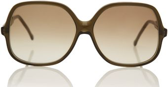 Cutler & Gross Olive Oversized Sunglasses - Lyst