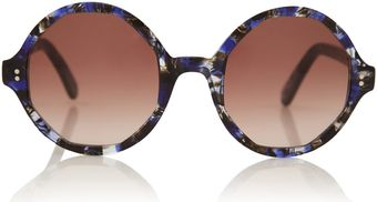 Cutler & Gross Purple Crystalline Oversized Octagonal Sunglasses - Lyst