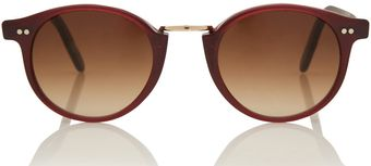 Cutler & Gross Red Metal Bridge Sunglasses - Lyst