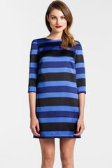 Cynthia Steffe Stripe Satin Shift Dress - Lyst