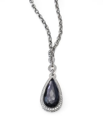 David Yurman Black Orchid Diamonds Sterling Silver Anjou Necklace - Lyst
