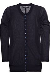 Dolce & Gabbana Fine-knit Cotton blend Cardigan - Lyst