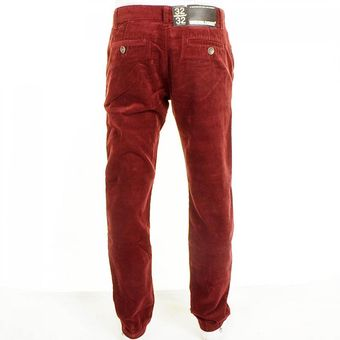 Dr. Denim Donk Chino Cords Burgundy - Lyst