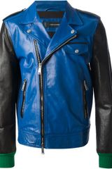 DSquared2 Bicolour Leather Jacket - Lyst
