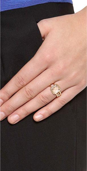 Elizabeth And James Metropolis Emerald Cut Stacking Ring
