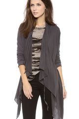 Enza Costa Long Sleeve Wrap Cardigan - Lyst