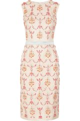 Erdem Mallory Crystal Embellished Silk Blend Dress - Lyst