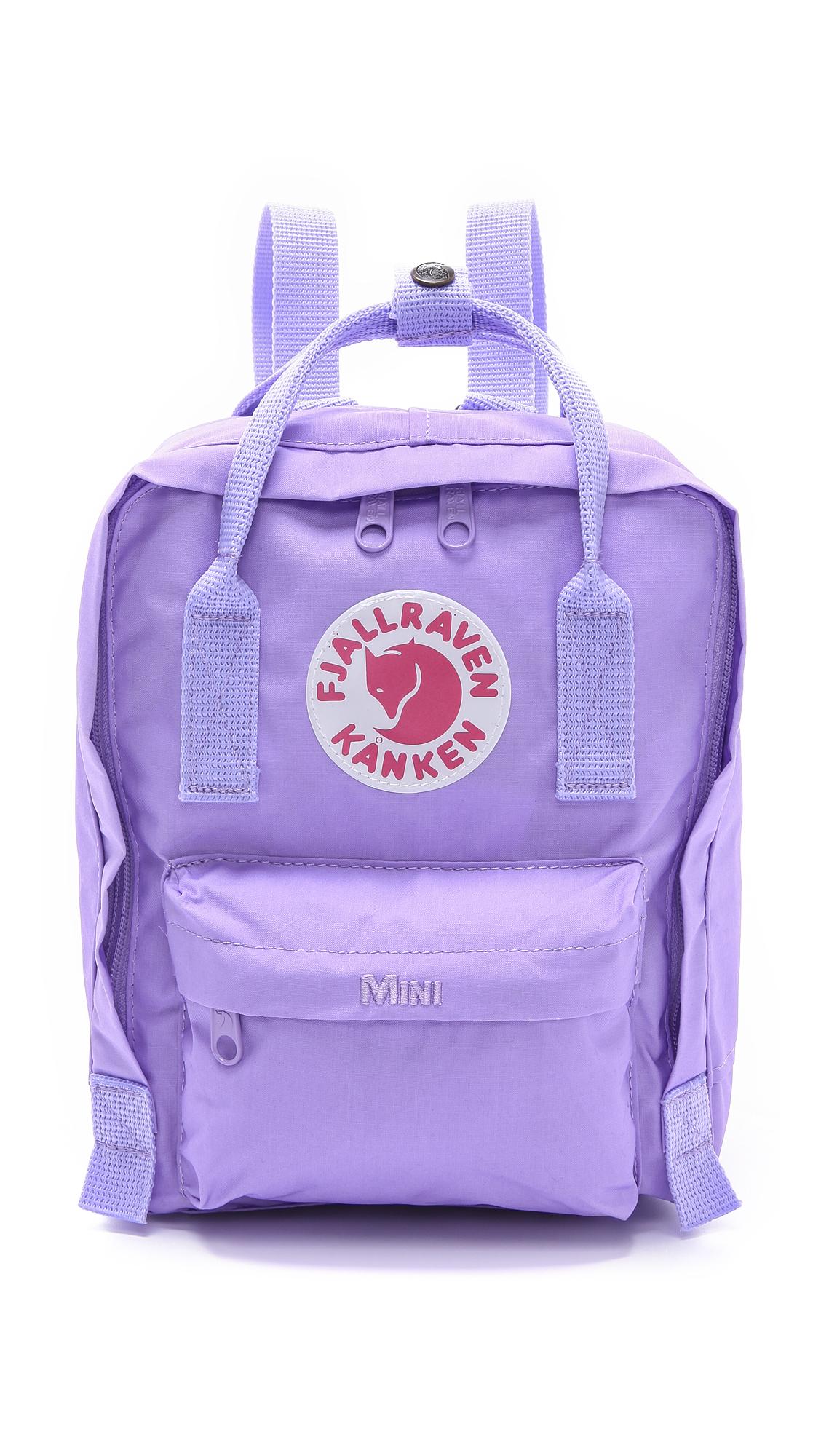 fjallraven kanken mini backpack peach pink in purple. Black Bedroom Furniture Sets. Home Design Ideas