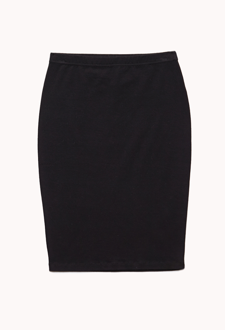 Fashion week Pencil black skirt forever 21 for woman