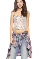 Free People Shellbourne Corset Top - Lyst