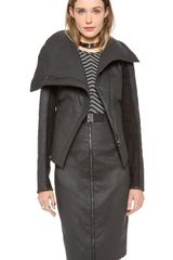 Gareth Pugh Shaped Shearling Jacket - Lyst