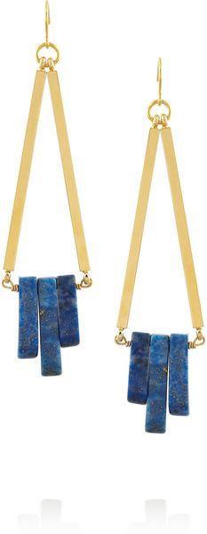 Gemma Redux Goldplated Lapis Earrings - Lyst
