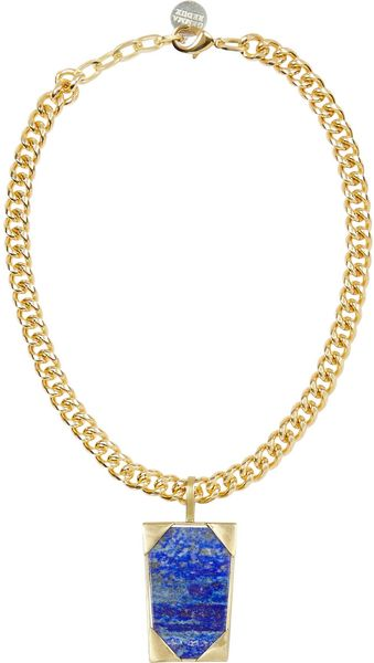 Gemma Redux Goldplated Lapis Necklace - Lyst