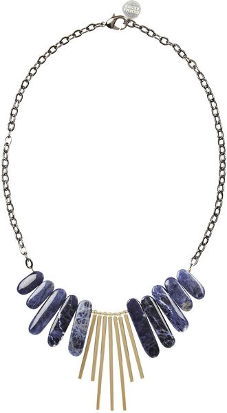 Gemma Redux Goldplated Sodalite Necklace - Lyst