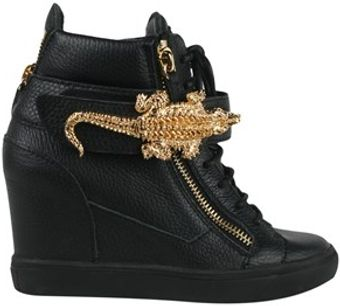 Giuseppe Zanotti Hightop Sneakers with Gator Detail - Lyst
