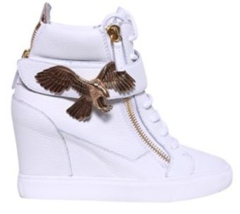 Giuseppe Zanotti Hightop Sneakers with Eagle - Lyst