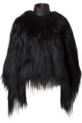 Givenchy Goat Fur Coat - Lyst