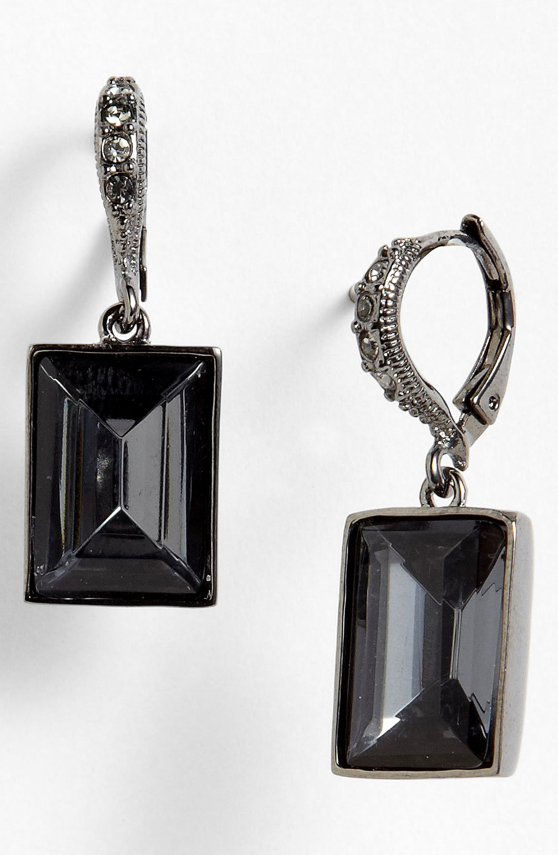 givenchy drop earrings in black hematite black