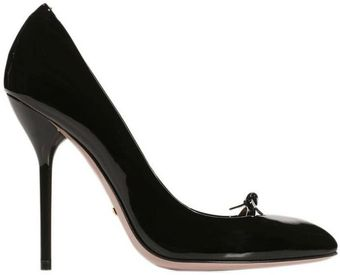 Gucci Shoes Beverly Heels 11 Patent Leather Pumps Bow - Lyst
