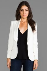 Haute Hippie Shawl Collar Blazer in White - Lyst