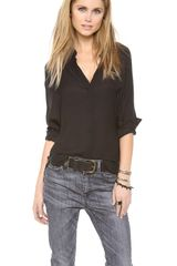 Haute Hippie Wide Sleeve Dolman Blouse - Lyst