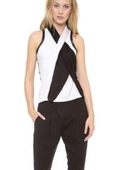 Helmut Lang Twisted Drape Top - Lyst