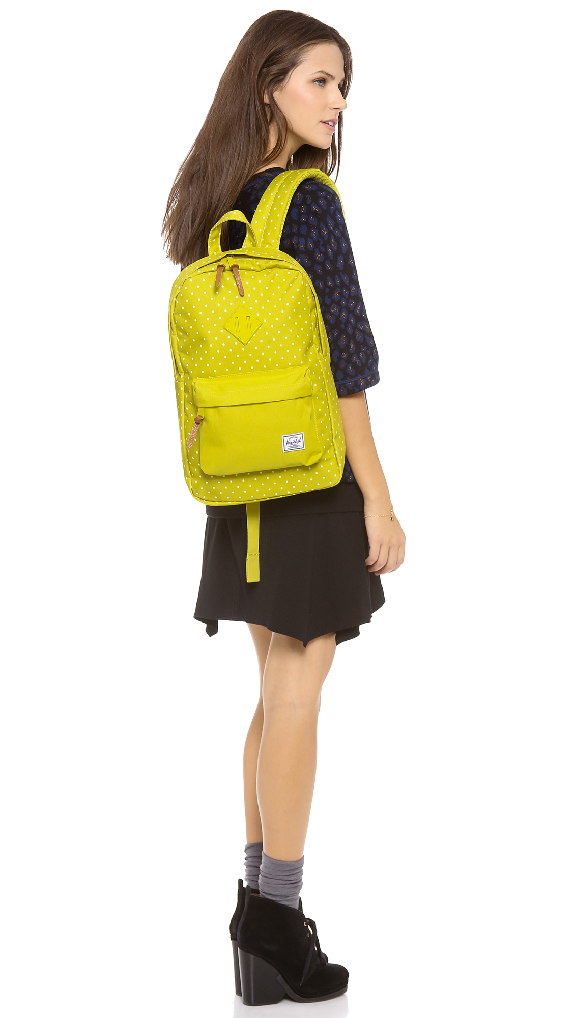 Lyst - Herschel Supply Co. Heritage Mid Volume Backpack in Yellow b82cbf97605d4