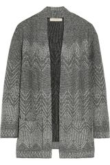 Inhabit Merino Wool-blend Jacquard Cardigan - Lyst