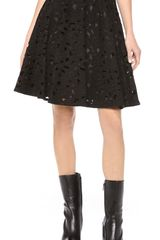 Jill Stuart Embroidered A-Line Skirt - Lyst