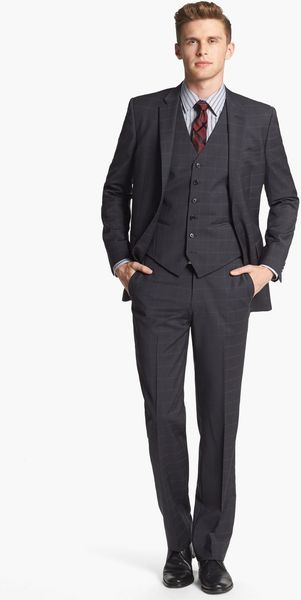 John Varvatos Trim Fit Three Piece Suit - Lyst