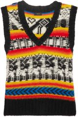 Joseph Intarsia Alpaca Sleeveless Sweater - Lyst